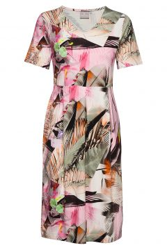 Dress-Jersey Kleid Knielang Bunt/gemustert BRANDTEX(116470486)