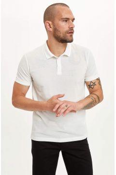 DeFacto Erkek Güvende Kal Polo Yaka Basic Slim Fit Tişört(119065165)