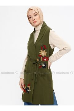 Khaki - Unlined -- Vest - Ginezza(110331723)