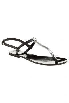 David Jones Kadın Parmak Arası Sandalet Siyah Lame(110945259)