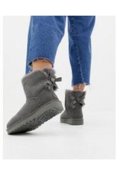 UGG - Mini Bailey Bow II - Graue Stiefel mit Schleife - Grau(83092803)