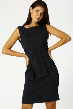 North Of Navy Kadın Kolsuz Lacivert Elbise(125171151)