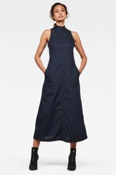G-Star RAW Women Utility Long Dress Dark blue(118326949)