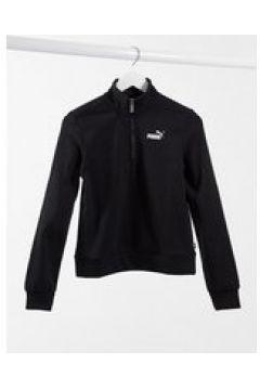 Puma - Essential - Felpa con zip corta nera-Nero(122684560)