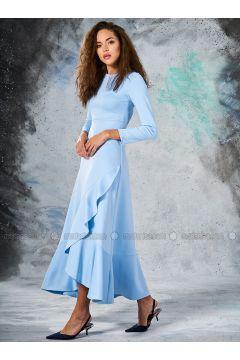 Baby Blue - Crew neck - Unlined - Dresses - Eda Atalay(110331459)