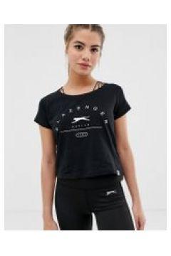 Slazenger - Ilena - Schwarzes T-Shirt - Schwarz(94102306)