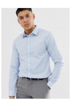 New Look - Camicia in popeline azzurra vestibilità classica-Blu(120261170)