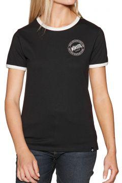 Nikita Dusk Ringer Damen Kurzarm-T-Shirt - Black(118347778)