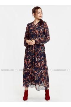 Navy Blue - Printed - Dresses - LC WAIKIKI(110313414)