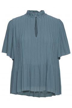 Lady Ss Blouse 6621 Blouses Short-sleeved Blau SAMSØE & SAMSØE(109010985)