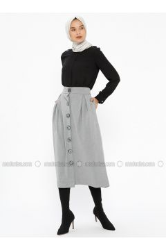 Gray - Unlined - Skirt - NZL(110322289)
