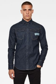 G-Star RAW Men Arc 3D Artwork Slim Shirt Dark blue(119788760)