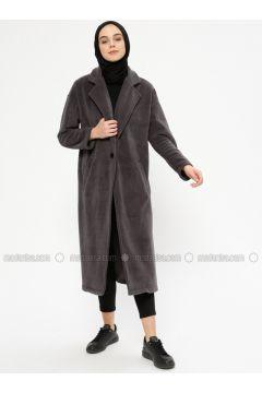 Smoke-coloured - Unlined - Shawl Collar - Jacket - Meys(110336720)