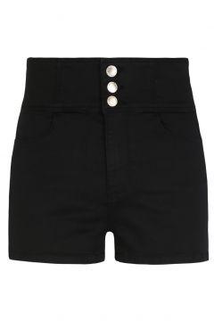 Schwarze Shorts mit Knöpfen(111016584)
