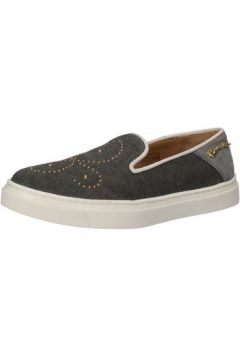 Chaussures Braccialini slip on gris textile clous AE545(115399510)