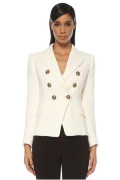 Balmain Kadın CEKET Beyaz 42 FR(121020497)