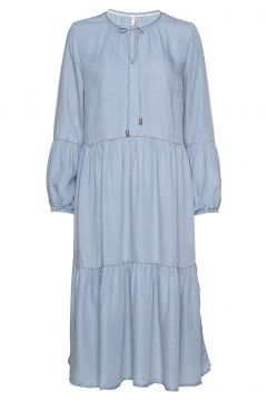 Pzdonatella Dress Kleid Knielang Blau PULZ JEANS(114164591)