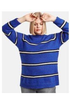 Sweter w paski Niebieski 46/L(115894495)