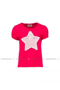 Red - Crew neck - Age 8-12 Top Wear - LC WAIKIKI(110342399)