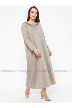 Minc - Unlined - Crew neck - Plus Size Dress - CARİNA(110320241)