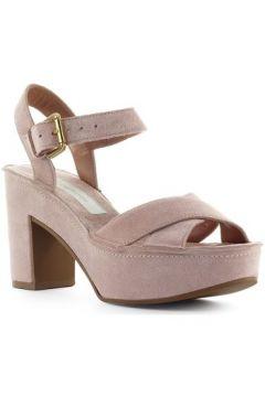 Sandales L\'autre Chose Sandale En Daim Rose Clair(101594443)