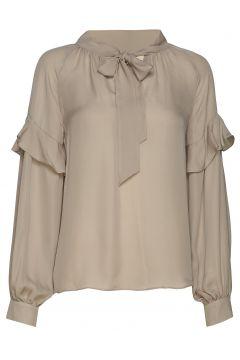 Eloise Silk Blouse Bluse Langärmlig Beige MAYLA STOCKHOLM(114153504)