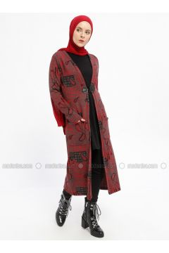 Red - Multi - Viscose -- Cardigan - XTREND(110329360)