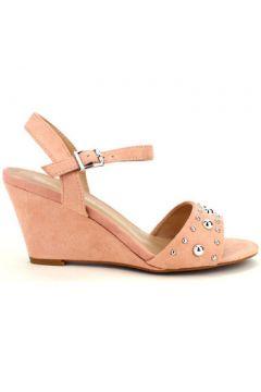 Sandales Cendriyon Compensées Rose Chaussures Femme(115425699)