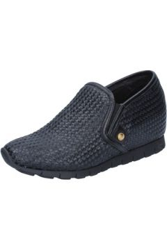 Chaussures Botticelli slip on mocassins noir cuir textile BZ91(115392357)