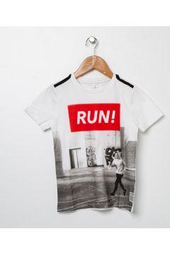 Name İt Erkek Çocuk Beyaz T-Shirt(113980189)