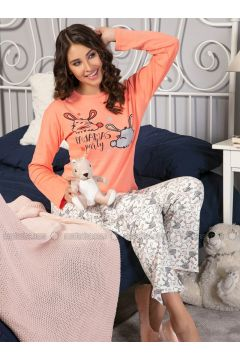 Salmon - Crew neck - Multi - Pyjama - Strawberry(110328445)