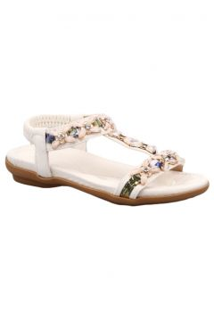 Guja Kız Çocuk Beyaz T-strap Taşlı Sandalet 19y206(118692928)