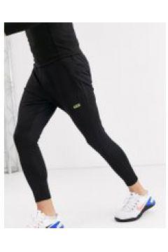 ASOS 4505 - Joggers da allenamento super skinny neri con logo-Nero(120245421)