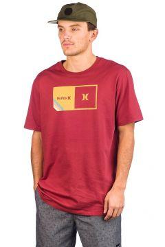 Hurley Halfer Stripe T-Shirt rood(116337126)