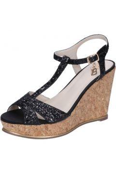 Sandales Laura Biagiotti sandales noir glitter BZ973(115399277)