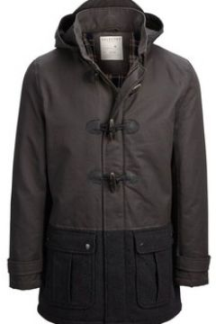 Manteau Selected Manteau duffle coat H Noir(115408726)