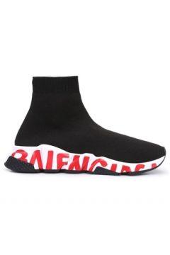 Balenciaga Kadın Graffiti Speed Siyah Kırmızı Sneaker 36 EU(120673136)