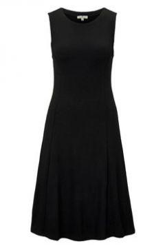 TOM TAILOR Damen Jersey Kleid mit Wiener-Nähten, schwarz, unifarben, Gr.36(114618148)
