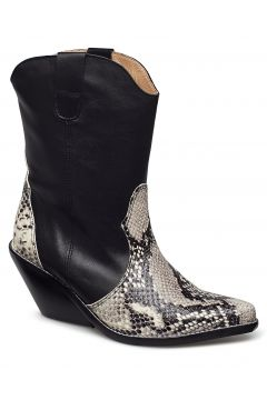 Livia X Snake Grey Shoes Boots Ankle Boots Ankle Boots With Heel Schwarz HENRY KOLE(114159059)