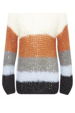 Mohair Pullover mit breiten Streifen(117291997)
