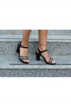 Dizzy Kadın Siyah Taşlı Sandalet(119319309)