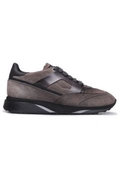 Santoni Erkek Gri Deri Sneaker 0 US(125300777)