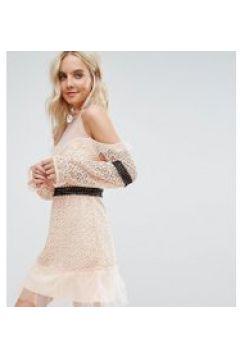 True Decadence Petite - Minikleid aus Spitze mit Schulterausschnitten(94961557)