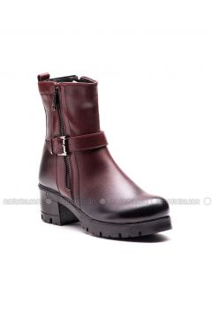 Maroon - Boot - Boots - Esem(110336589)