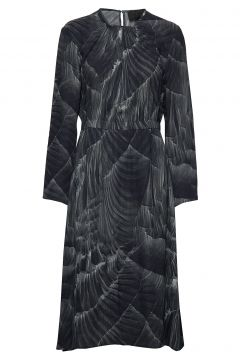 Gathered Dress Kleid Knielang Grau DIANA ORVING(114164125)