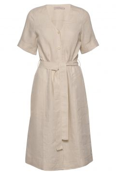 Dress Short Sleeve Kleid Knielang Beige NOA NOA(114164379)