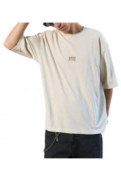 Afends Distressed Oversized Kurzarm-T-Shirt - Moonbeam(114064982)
