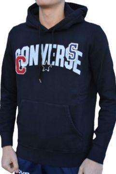 Sweat-shirt Converse Fleece Felpa Logo Patches Cotone Felpato Nera(115476760)