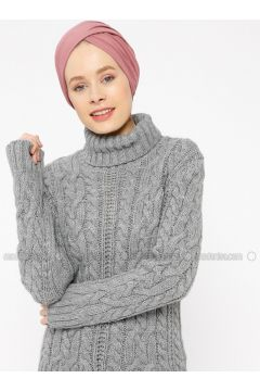 Gray - Polo neck -- Jumper - Zentoni(110323413)