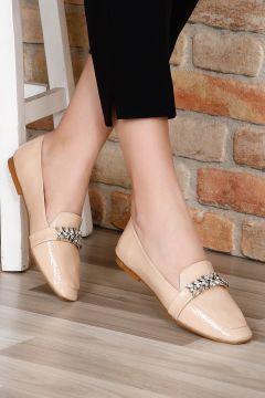 G.Ö.N Bej Rugan Kadın Casual Ayakkabı(110952204)